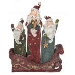 """Набор статуэток """"Три Деда Мороза на санях"""" из 4 шт."""