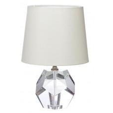 Лампа настольная хрустальная с кремовым плафоном