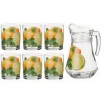 """Набор для сока """"Лимоны"""" 7 предметов"""