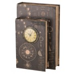 Шкатулка-книга с часами кварцевыми