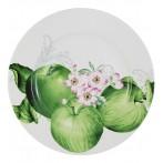 Тарелка обеденная Зеленые яблоки