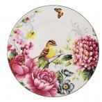 """Тарелка обеденная """"Цветы и птицы"""""""