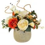 Декоративные цветы Букет в керамической вазе