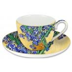 """Чашка с блюдцем """"Ирисы"""" (Ван Гог)"""