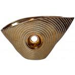 Ваза керамическая декоративная (золотая)