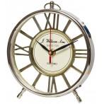 Часы настольные круглые золотистые
