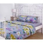 """Комплект постельного белья 1,5 спальный """"Цветы"""""""