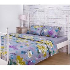 """Комплект постельного белья евро """"Цветы"""""""