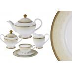 Чайный сервиз Вуаль кремовая 23 предмета на 6 персон