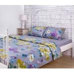 """Комплект постельного белья """"Цветы"""" 1,5-спальный"""