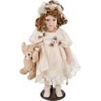 Кукла фарфоровая в кремовом платье