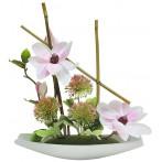 Декоративные цветы Магнолия на керам подставке