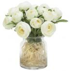 Декоративные цветы Купальницы белые в стекл вазе