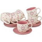 """Чайный набор """"Love""""на 6 персон 12 предметов"""
