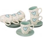 """Кофейный набор """"Love"""" на 6 персон 12 предметов"""