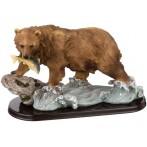 """Фигурка """"Медведь с рыбой"""""""