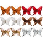 """Комплект декоративных изделий на клипсе """"Бабочки"""" из 12 шт."""