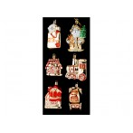 """Декоративный набор игрушек """"Кладовая Деда Мороза"""" из 6 шт."""