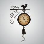 "Часы на кронштейне (с термометром) ""Петух"""