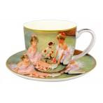"""Чашка с блюдцем """"Балерины на отдыхе"""""""