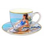 """Чашка с блюдцем """"У моря"""""""