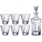 """Набор для виски """"Аполло"""": штоф (600 мл, высота - 23 см), 6 стаканов (300 мл, высота - 10 см)"""