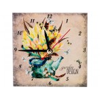 """Часы """"Сады в цветах: чайник"""""""