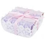 Комплект из 4-х салфеток в корзинке (лиловый, розовый)