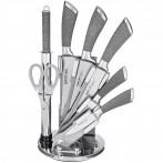 Набор ножей с силиконовыми ручками на пластиковой подставке