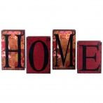 "Набор из 4-х шкатулок-книг ""Home"""