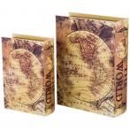 "Набор из 2-х шкатулок-книг ""Карта мира"""