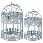 Набор клеток для птиц декоративных из 2-х шт.l:13*13*21,s:11*11*18 см (кор=24 наб.)