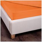 Простыня с резинкой 160х200х30 см хлопок 100%,оранжевый, сатин