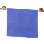 Полотенце махровое 50*90 см голубое, 100% х\б